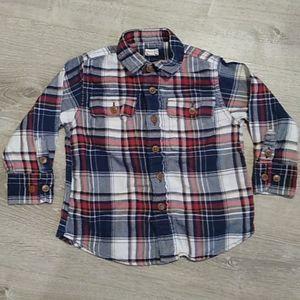 Crewcuts tartan plaid flannel shirt button down